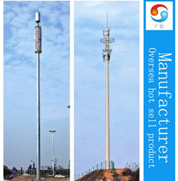 gms mobile telecom antenna tower mast China manufacturer