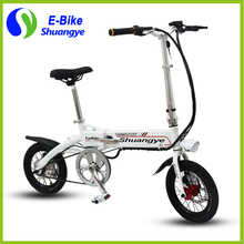 Hidden lithium battery 250w motor folding electric bike