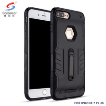 2018 Trending Rugged TPU +PC black case for iphone 7 plus heavy duty hard case