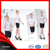 Cheap high quality customized latest hot sale spa uniform hotel uniform restaurant uniform