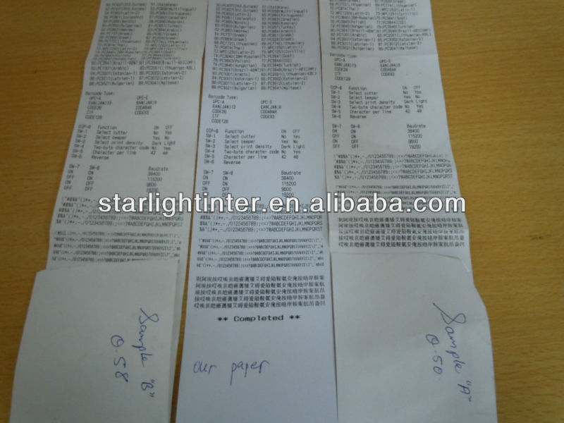 thermal paper for POS printers