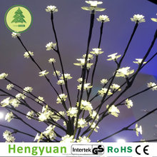96L LED Tree Light with Lotus Flowers Christmas Decoration Light