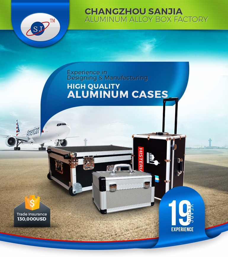 China Direct Manufacturer Sliver Custom Aluminum Flight Case