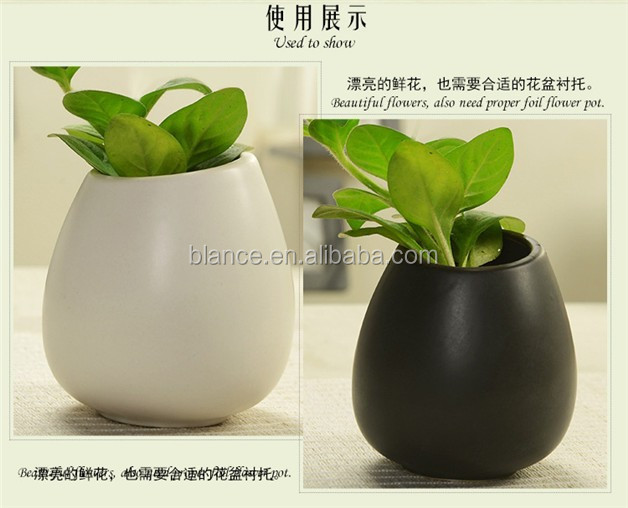 porcelain egg shape flower pot in mattte finish