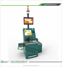 High Standard Card Reader Airport Kiosk Check in Demo healthcare in uk Round Shaped