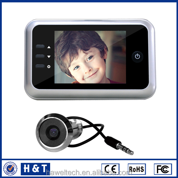 CE Rohs certified wireless peephole security camera With interal memory