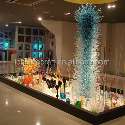 Unique Chihuly Murano Glass Arts Handmade Blown Glas Large Hotel Ground Floor Decor glass Sculpture