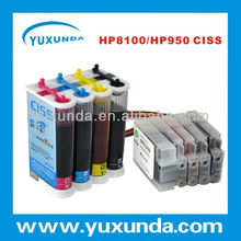hot sale 100ml ABS ciss system for hp932 hp933 with resettable chip continuous ink supply sytem