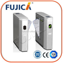 FUJICA automatic flap barrier turnstile gate with barcode reader