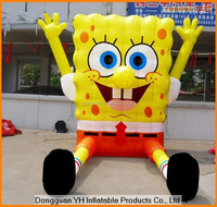 cheap oxford outdoor advertising inflatable ground spongebob cartoon character