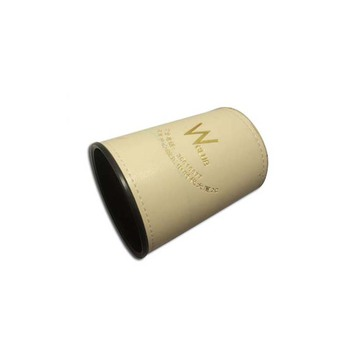 Promotional Items Gifts Genuine Leather Dice Cup Dice Shaker Bar and Hotel Custom Dice Cup