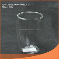 Durable unique double wall shooter glass cup