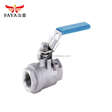 Best selling Low Pressure threaded three way teflon ss ball valve