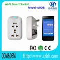 Smart socket to control home power ON/OFF from wireless wifi smart home system