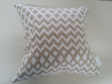Complete cotton linen cushion/decorative cushion cover/new design geometric design embroidered cushion