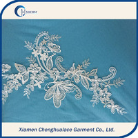 On Slaes!!! Elegant Embroidery Bridal African Embroidery Lace Fabrics For Wedding Dresses