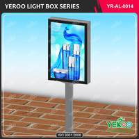 High quality advertising waterproof outdoor pylon sign advertising light box