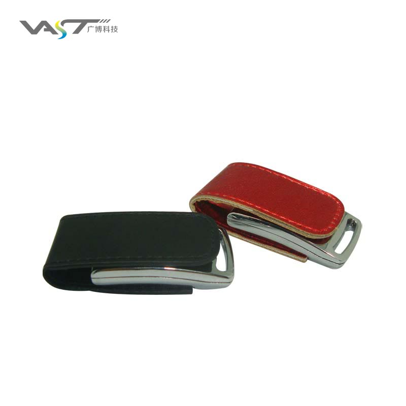 bestseller business gift oem brand leather usb flash drive VDL-014 stylish business gift sets