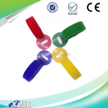 colorful nylon hook and loop cable tie