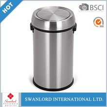 Outdoor stainless steel metal trash can / waste bins / garbage bins for sale