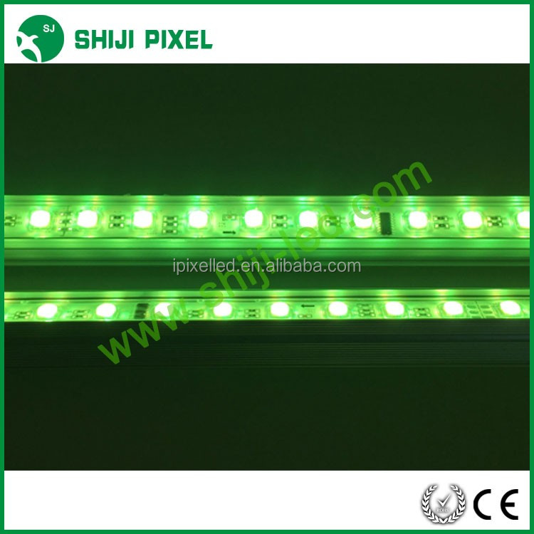 5050 48pixels led rigid bar,outdoor video aluminium profile rgbw led wall washer