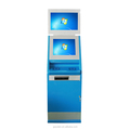 Yulian Multi-media Touch kiosk with Double Screens/Information kiosk/Internet kiosk with card reader,barcode scanner,pin pad