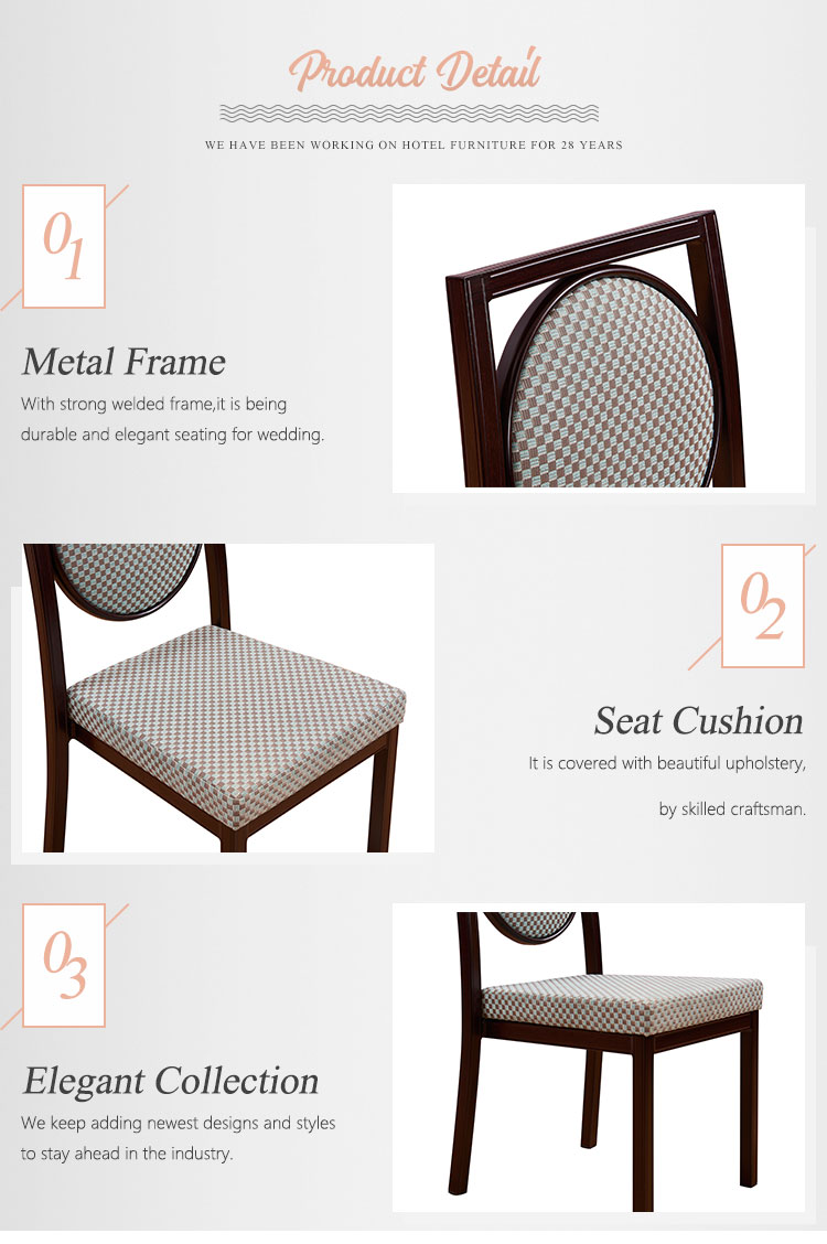 Professional furniture dining restaurant round back metal chair