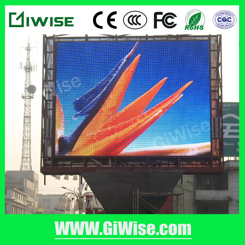 Outdoor IP65 waterproof P8 P10 P16 P20 RGB full color AD led billboard