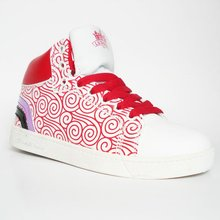 2012 beautiful high cut skate shoes women