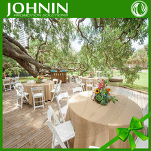 Custom Exquisite Cotton Round Tablecloth for Wedding Party
