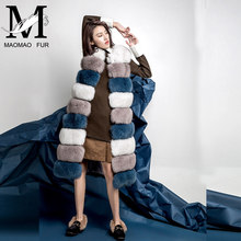 Hot Sale Long Style Fox Fur Vest Women Winter Vest Without Sleeve Sex Vest