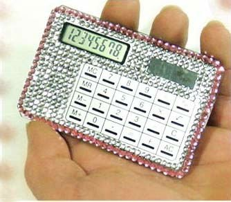 Plastic mini calculators for promotion gifts