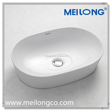 Bathroom sanitary ware fashion modern designs counter top ceramic face washing art sink wash basin