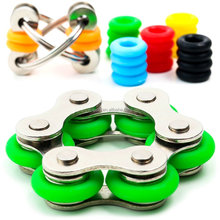 Chain Fidget Toy for Sensory Kids Set Roller Chain Fidget Toy Flippy Chain Stress Customizable Colors for Anxiety ADHD