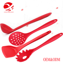 2017 most popular custom cosmetic cream spatula silicone kitchenware utensil