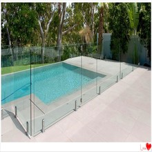 frameless glass fence/handrails with tempered glass fence panel for swimming pool
