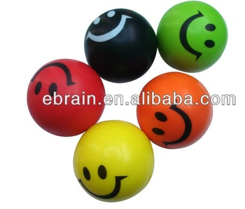 PU stress smiley balls with all kinds faces