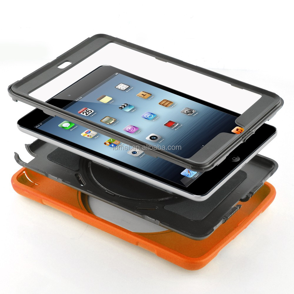 For Ipad Mini Silicon+Pc Protective Case