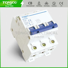 TONGOU TOM10-63 c45 3P mcb switch is above 4000 cycles of electro-mechanical endurance.