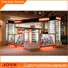 High quality MDF Baking painting cellphone accessory kiosk cell phone store display kiosk in mall