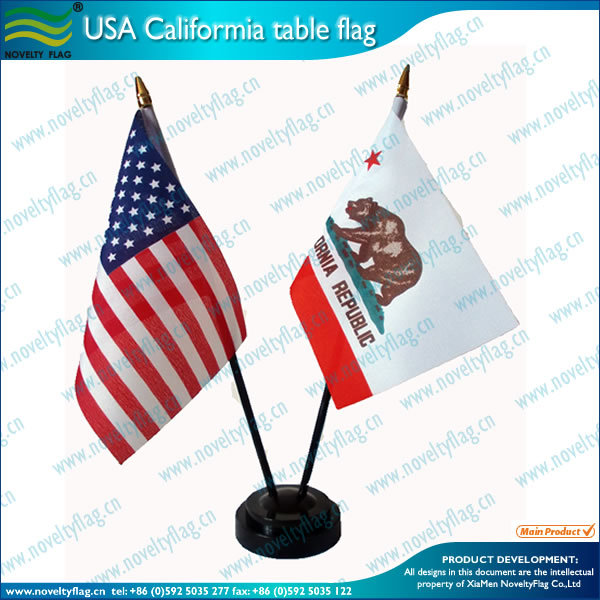 USA California polyetser table flag
