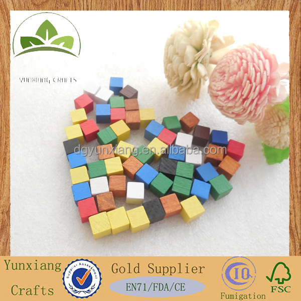 8mm wooden cubes Colored wooden block