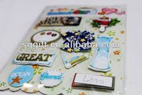 3D handmade sticker 3d stickers for scrapbooking