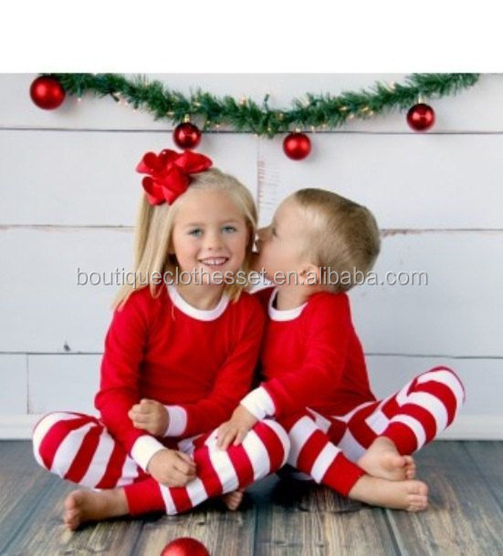 childrens pajamas wholesale christmas kids striped ruffle christmas sets baby girls christmas sleep wear