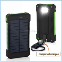 Rohs Power Bank 8000Mah,Mobile Waterproof Solar Charger Cell Phone,Solar Power Bank Charger