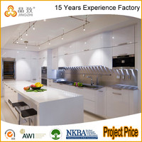 High Gloss PVC Lacquer Modern Kitchen Designs