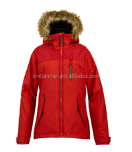active fur hooded ski jacket for women snowboard ski jackets from Yingjieli