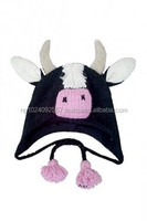 Animal hats ~Caps ~Knitted~Woolen~All Sizes~Super Warm~Cow