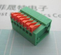 PCB Spring Terminal Block 141V 2.54MM PITCH FS141V-2.54-7P