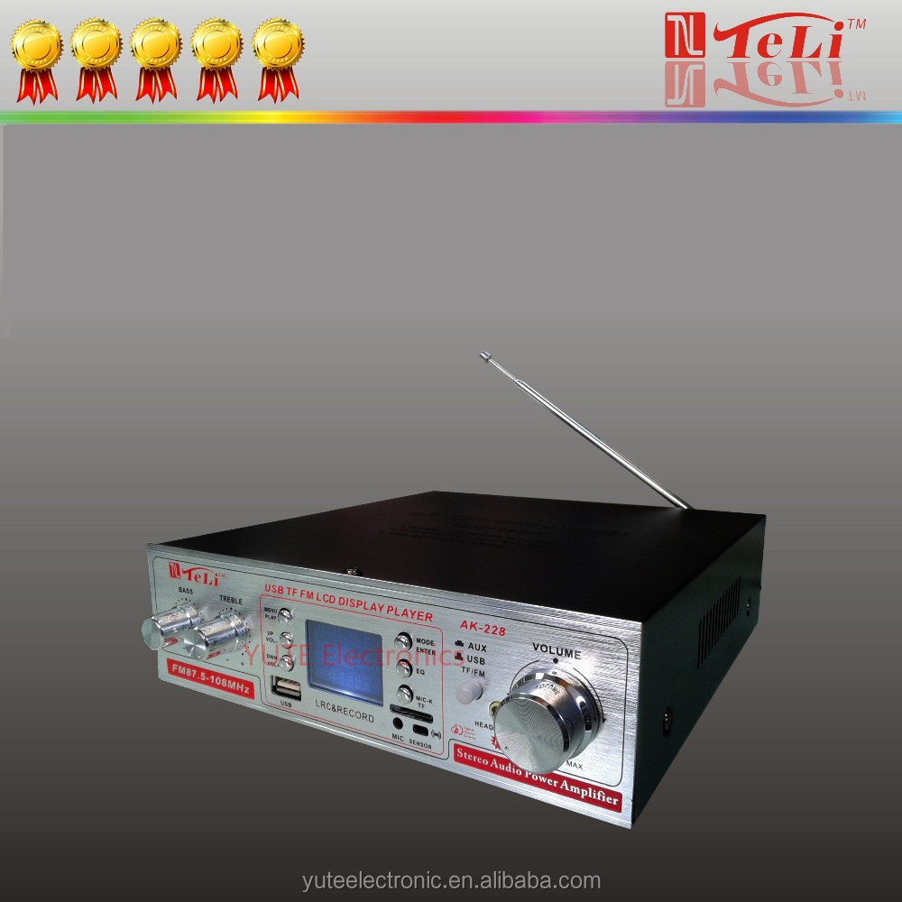 LCD display(LRC)Digital AV Power Amplifier with USB/SD
